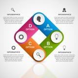 Modello astratto di infographics di opzioni di affari 3D Immagine Stock Libera da Diritti
