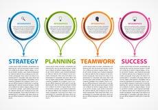 Modello astratto di infographics di opzioni Infographics per l'insegna di presentazioni o di informazioni di affari illustrazione di stock