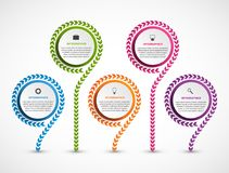 Modello astratto di infographics di opzioni Infographics per l'insegna di presentazioni o di informazioni di affari royalty illustrazione gratis
