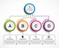 Modello astratto di infographics di opzioni Infographics per l'insegna di presentazioni o di informazioni di affari illustrazione vettoriale