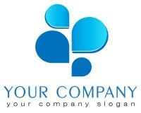 Modello astratto di logo Fotografie Stock