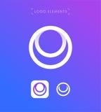 Modello astratto di logo di stile di origami della lettera O Applicatio del cerchio illustrazione di stock