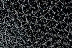 Modello astratto di metallo sotto forma di costruzione inossidabile Fotografia Stock Libera da Diritti