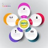 Modello astratto di numero di infographics con l'icona e l'opzione 5 royalty illustrazione gratis