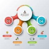 Modello astratto di opzioni di numero di infographics Fotografie Stock Libere da Diritti