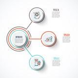 Modello astratto di opzioni di numero di infographics Fotografia Stock
