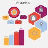 Modello astratto di opzioni di numero di infographics Illustrazione di vettore può essere usato per la disposizione di flusso di  Fotografie Stock