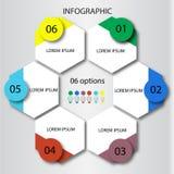 Modello astratto di opzioni di numero di infographics Illustrazione di vettore può essere usato per la disposizione di flusso di  Immagini Stock Libere da Diritti