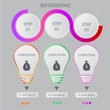 Modello astratto di opzioni di numero di infographics Illustrazione di vettore può essere usato per la disposizione di flusso di  Fotografie Stock Libere da Diritti