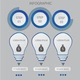 Modello astratto di opzioni di numero di infographics Illustrazione di vettore può essere usato per la disposizione di flusso di  Fotografia Stock Libera da Diritti
