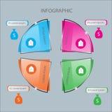 Modello astratto di opzioni di numero di infographics Illustrazione di vettore può essere usato per la disposizione di flusso di  Immagine Stock