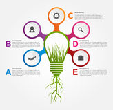 Modello astratto di progettazione di infographics di opzioni Fotografia Stock Libera da Diritti