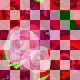 Modello astratto di rosso della rosa, rosa Fotografia Stock