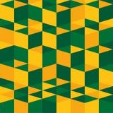 Modello astratto di struttura del bacground - verde e giallo Fotografie Stock