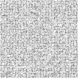 Modello astratto distorto dei quadrati Quadrati neri isolati su fondo bianco Illustrazione per il vostro disegno Struttura rumoro Fotografia Stock