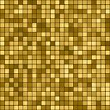 Modello astratto dorato senza cuciture Stampa geometrica composta di quadrati dorati su fondo scuro Imitazione del mosaico dell'o Immagini Stock