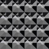 Modello astratto geometrico in bianco e nero quadrato Immagine Stock