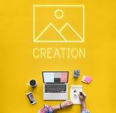Modello astratto Graphic Concept di ispirazione della creazione Fotografie Stock