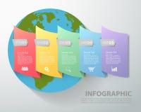 Modello astratto infographic può essere usato per il flusso di lavoro, la disposizione, il diagramma, processo Fotografia Stock Libera da Diritti