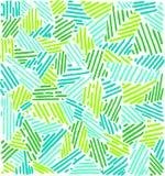 Modello astratto lineare riga Fondo verde Fotografia Stock
