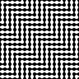 Modello astratto moderno del labirinto della geometria di vettore fondo geometrico senza cuciture in bianco e nero Fotografia Stock