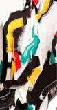 Modello astratto, onde multicolori, bande, sbavature Fondo di vettore di fasion di colore Immagini Stock Libere da Diritti