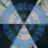 Modello astratto radiale Fotografia Stock