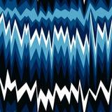 Modello astratto senza cuciture con le linee di zigzag illustrazione di stock