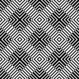 Modello astratto senza cuciture di vettore in bianco e nero Carta da parati astratta della priorità bassa illustrazione vettoriale