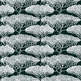Modello astratto stilizzato dell'illustrazione degli alberi Immagini Stock Libere da Diritti