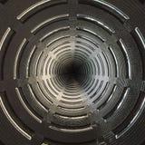 Modello astratto strutturato radiale Fotografia Stock