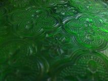 Modello astratto verde della geometria Fotografia Stock