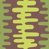 Modello astratto verde senza cuciture su un fondo marrone Immagini Stock