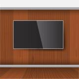 Modello astuto della TV, schermo di vettore, LED che appende sulla parete Immagine Stock
