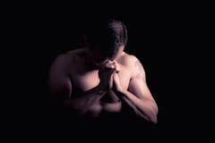 Modello atletico di forma fisica dell'uomo Immagini Stock Libere da Diritti