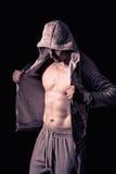 Modello atletico di forma fisica dell'uomo Fotografia Stock Libera da Diritti