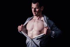 Modello atletico di forma fisica dell'uomo Immagini Stock
