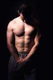 Modello atletico di forma fisica dell'uomo Immagine Stock Libera da Diritti