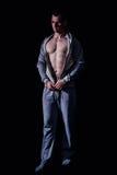 Modello atletico di forma fisica dell'uomo Immagine Stock