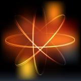 Modello atomico delle luci al neon illustrazione di stock