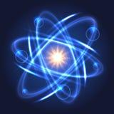 Modello atomico nucleare brillante royalty illustrazione gratis