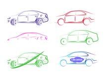 Modello automatico delle collezioni di logo dell'automobile di velocità illustrazione di stock