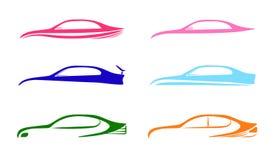 Modello automatico delle collezioni di logo dell'automobile di velocità illustrazione vettoriale