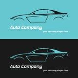 Modello automobilistico di progettazione di logo di vettore di argomenti di concetto di progetto dell'automobile sportiva royalty illustrazione gratis