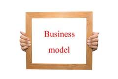 Modello aziendale Immagine Stock