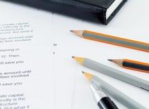Modello aziendale finanziario Accounting Fotografie Stock