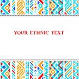 Modello azteco geometrico etnico variopinto, vettore Fotografia Stock Libera da Diritti