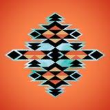 Modello azteco navajo di ispirazione del tessuto Indiano dell'nativo americano Fotografie Stock Libere da Diritti