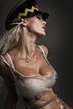 Modello bagnato sexy Fotografia Stock