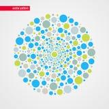 Modello beige astratto di vettore delle bolle di verde blu Elemento decorativo di disegno Illustrazione felice per la decorazione Fotografia Stock Libera da Diritti